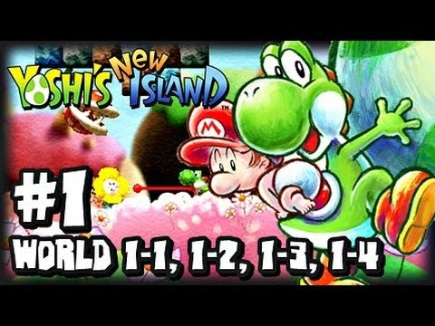 Yoshi's New Island 3DS (1080p) - Part 1 - World 1 (1/2) w/Giveaway