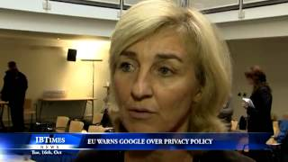 EU warns Google over privacy policy