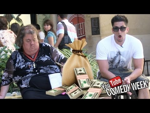 MONEY BAG PRANK w/ TOM GREEN (Youtube Comedy Week)