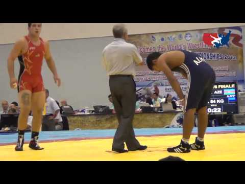2012 Junior Worlds - GR 84kg - Lucas Sheridan (USA) vs. Faud Aliyev (AZE)