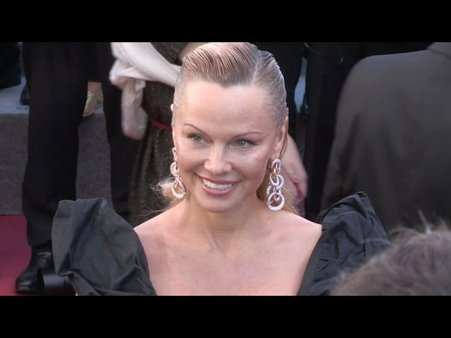 Pamela Anderson on the red carpet for the Premiere of 120 battements par minutes
