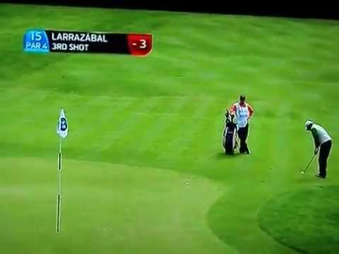 Pablo Larrazabal: BMW PGA Championship Chip shot for birdie at the 15th hole