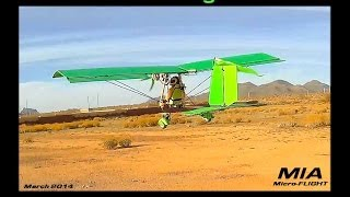 RC Ultralight - MIA EZ UL 2.0  Maiden Test Flight March 16 2014 Long Range FPV Model