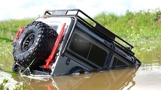 TRAXXAS TRX4 Driver ROOF DEEP - SWAMP RESCUE | RC ADVENTURES