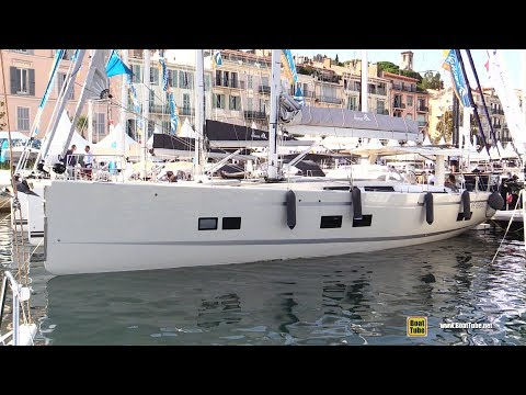 2019 Hanse 675 Sailing Yacht - Deck and Interior Walkaround - 2018 Cannes Yachting Festival