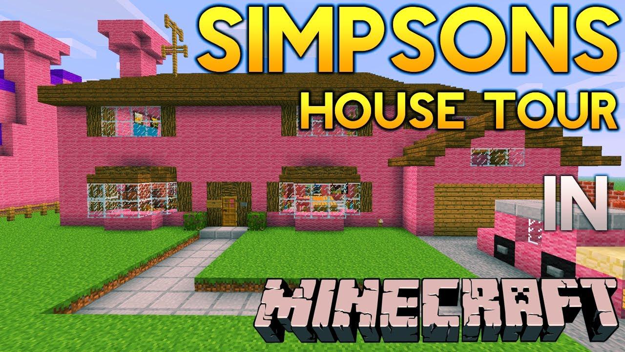 Minecraft Simpsons House Tour Youtube