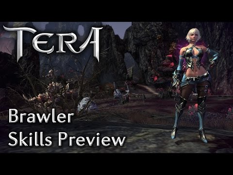 TERA KR   Brawler Skills Preview   Translated Skill Descriptions and Glyphs