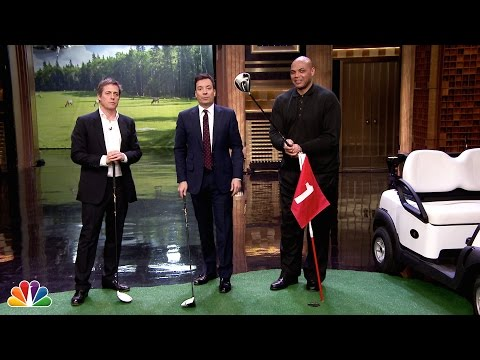 Hallway Golf with Hugh Grant and Charles Barkley