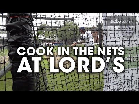 Alastair Cook in the nets at Lord's