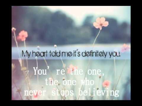 You're the One lyrics - Sascha Dupont