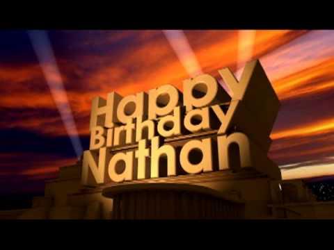 Happy Birthday Nathan Cake Animated
