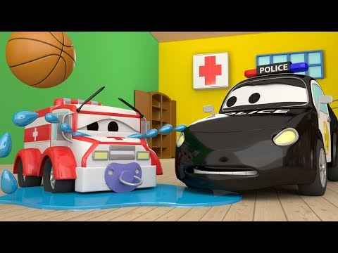 The Car Patrol: Fire Truck and Police Car and Baby Amber's MISSING in Car City | Cars cartoon