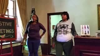 Waitresses sing in Xhosa (clicking language)