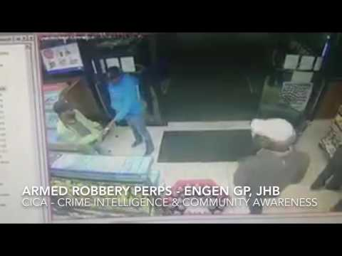 Armed Robbery at Engen Garage Auckland Park Johannesburg - Do you recognize these criminals?