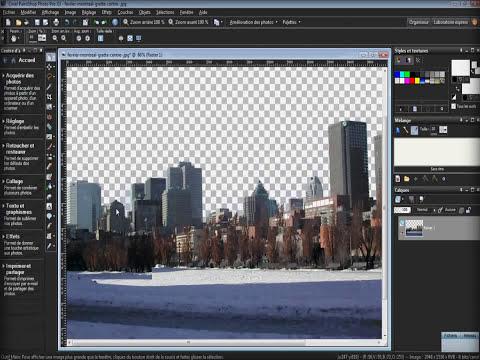 L'extraction de l'objet - Paintshop Photo Pro X3