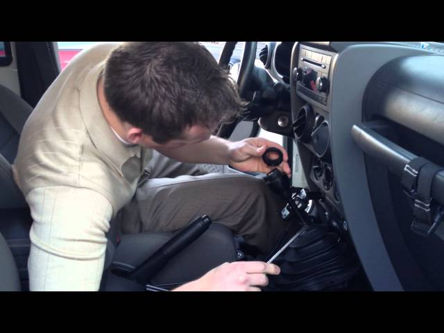 Jeep shift knob removal - YouTube