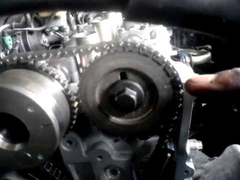03 Altima 2 5 Setting The Timing Chain Head Gasket Youtube
