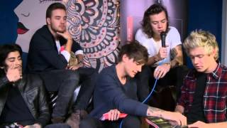 One Direction Video - One Direction interview. Harry Reacts to The Most Retweets of 2014