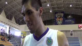 Entrevista con Israel Nolasco Final Basquetbol Universiada Nacional 2013
