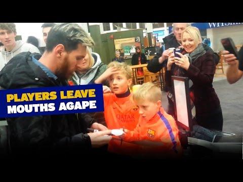 La increíble reacción de dos chicos después de conocer a Messi