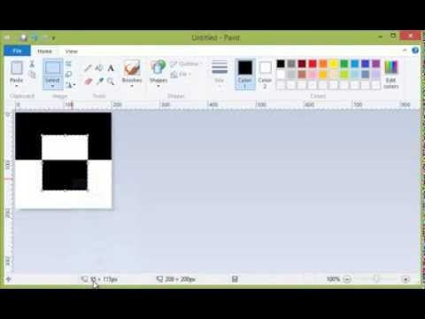 how to invert colors in paint in windows 7 and windows 8 youtube