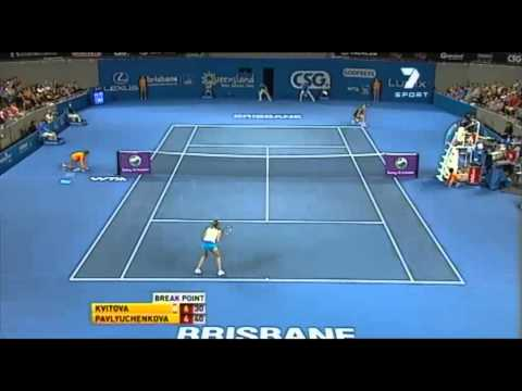 Brisbane International: Kvitova vs Pavlyuchenkova Highlights