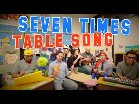 Seven Times Table Song Cups  Anna Kendrick  with Classroom Instruments