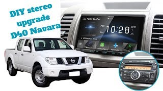 How To Install Stereo in a Nissan Navara D40 - Radio Install & Removal D40