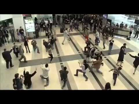 Beirut Duty Free Rocks Airport with Dabke Dance - Flash Mob | دبكة في مطار بيروت