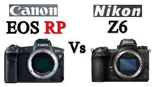 Canon EOS RP vs Nikon Z6