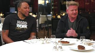 Gordon Ramsay Judges Steaks Cooked off Shawn Marion Vs Caron Butler