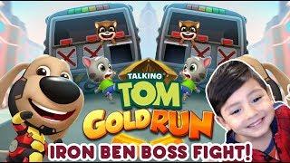 Talking Tom Gold Run   Iron Ben contra el BOSS   Juegos para niños