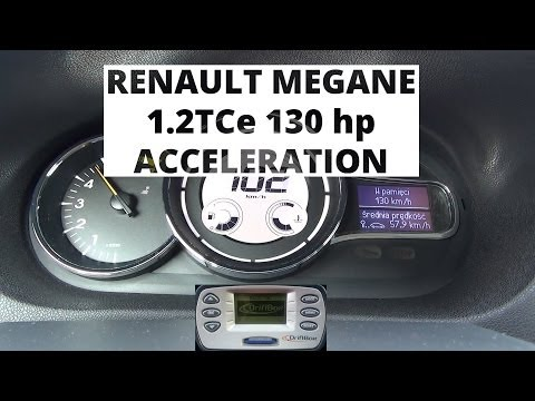 Renault Megane 1.2 TCe 130 hp - acceleration 0-100 km/h