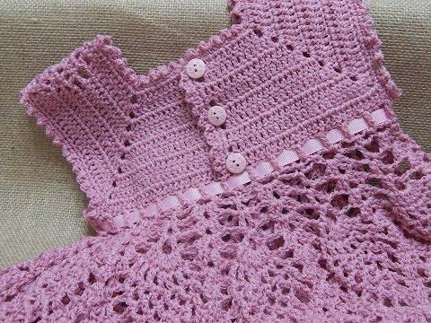 Vestido tejido a crochet para niña de 2 años - Imagui