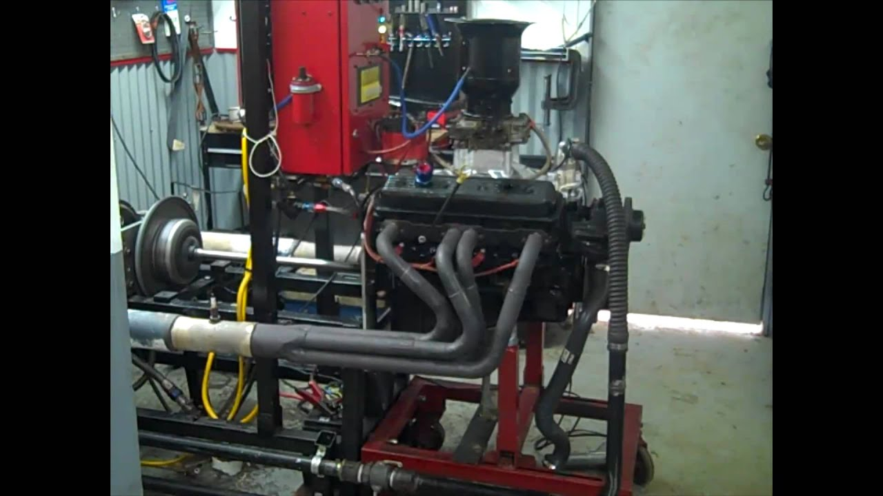 Almost Stock 350 Engine On Dyno Youtube