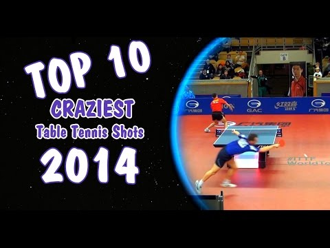 Top 10 Craziest Table Tennis Shots of 2014 (XMAS Edition)