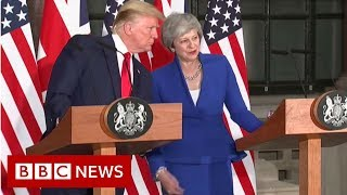 Trump v Trump on the NHS - BBC News