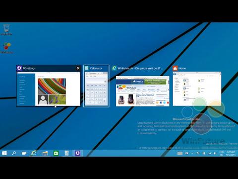 Windows 9: Der neue Multi-Desktop in Aktion