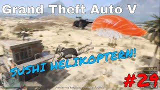 HELIKOPTER SUSHI?! (GTA 5 Online Svenska) - Funny Moments