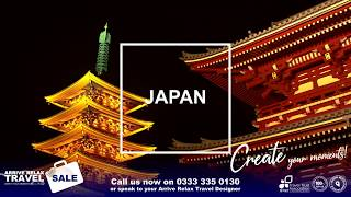 Arrive Relax Travel Create your moments Japan
