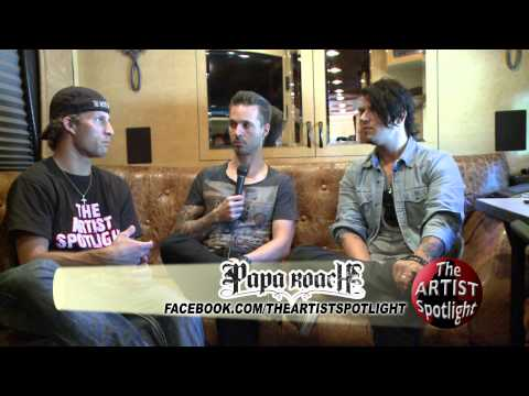 Papa Roach Interview Uproar Tour 2012 on The Artist Spotlight w/ Dylan Schoonover