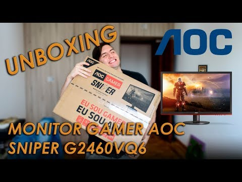 UNBOXING AOC GAMER SNIPER 24 Pol G2460VQ6
