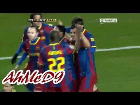 Lionel Messi First Goal vs Almeria (26 Jan 2011) Copa del Rey