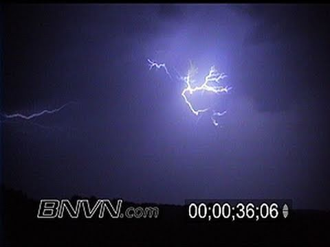 6/23/2000 Lightning during the overnight fills the sky