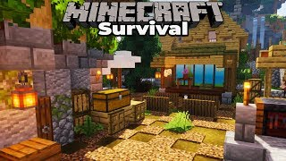 Building with fWhip S2 : Village MARKET : Minecraft 1.14 Survival Let's Play