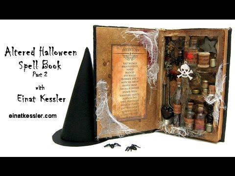 Halloween Altered Spell Book - part 2
