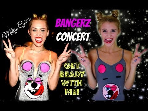 Get Ready With Me | Miley Cyrus BANGERZ Concert ♥ Makeup, Hair & Outfit!