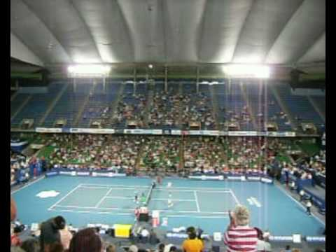 James Blake vs Dominik Hrbaty match point Hopeman Cup 2009 Session 4