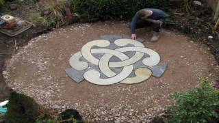 Dry run laying of Celtic Knot Circle