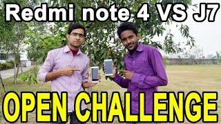 Redmi note 4 vs Galaxy J7 open challenge. Hindi